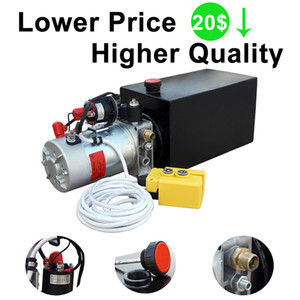 8 Quart DC 12V High Quality Hydraulic Pump Power Supply Unit Pack Double Acting Dump Trailer Fit for Car Lift Unloading
