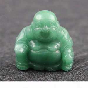 Natural Stone Carved Buddas Crystal Agate Gemstone Opal Quartz Jade Crafts Maitreya Buddha Home Decoration Wholesale