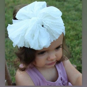 Adjustable Big Bow Baby Headband Top Knot Headbands Over Sized Bow Hair Newborn Head Band Girl Large Hair Bows hairclippersshop SrsTb