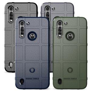 Cassa del telefono Griglia antiurto Armatura per la cassa del silicone di stile Motorola G8 Potenza Lite Heavy Duty Army
