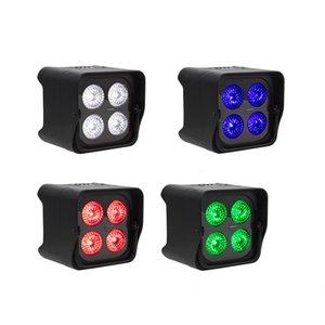 SHEHDS 4x18W RGBWA UV LED Uplight 배터리 무선 파 라이트 WifiIR 원격 제어 DMX Uplighting DJ 워시 디스코 웨딩 무대