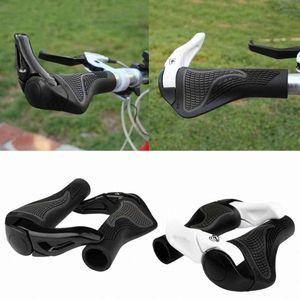 2018 Hot Bar Bike Components se termine Guidons en caoutchouc vélo Poignées en aluminium Barend poignée ergonomique bar Push On Grips souple de #
