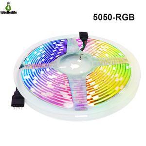 5050 RGB LED Streifen Licht DC12V 30LED / M 60LED / M Flexible LED Band Licht Wasserdicht Nicht wasserdicht 5m Dekoration Licht für Zuhause