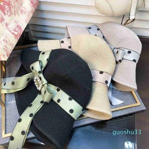 Hot Sale Spring and Summer New Ladies Lafite Straw Hat Fashion Flat Top Hat Big Visor Out of the Sunscreen Sun Hat BB62