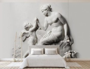 Custom Wallpaper 3d Stereo relief of Our Lady and Little Angel Abstract Art Wall Mural Living Room Bedroom Wallpaper