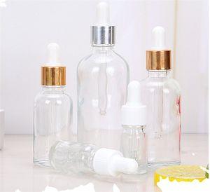 Uçucu yağlar için cam damlalık pipetler ile 5ml 10ml 15ml 30ml 50ml Temizle Cam Damlalık Şişe eliquid şişe argan
