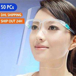 Expédier des Etats-Unis de protection écran facial couverture en plastique de protection Masque d'isolement Clear Vision Anti Oil Splash poussière Visor visage pour cuisson Masque