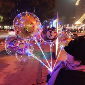 Cartoon LED Bobo Ball Luminous Balloon Light Up Transparent Balloons Toys Flashing Balloon Christmas Party Wedding Anniversary Decoratio 010