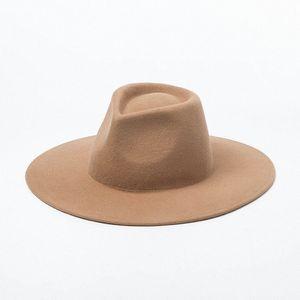 2020 Designer Luxury Collection Paris 100% lã Boho Chic Prairie California Style Grande Felt Brim Hat Fedora 6M6m #