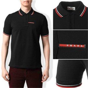 A2 высокого качества крокодил рубашки поло Мужчины Твердые хлопок шорты Polo PRADA Summer Casual поло Homme футболки мужские рубашки поло Poloshirt