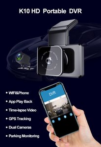 Newest K10 3inch touch screen 3 cameras car dvr recording dash camera with WDR and motion detection parking monitor