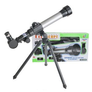 astronomical telescope 20x-40x Kids educational science sky explore telescope monocular focusing rotary spotting scope with compass tripod