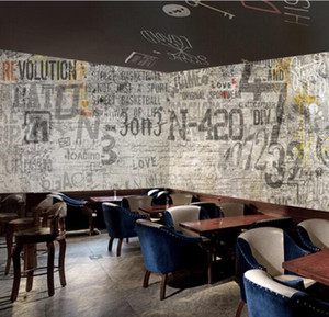 3D mural retro restaurant nostalgic wallpapers milk tea shop clothing store 5D mural industrial style cement wall background wallpaper