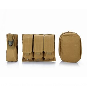 Dingshi Molle tactics triple bag Army fans accessories waist hanging outdoor sports Accessories outdoor sports bag Interphone bagbag