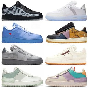 2020 nike air force 1 off white MCA stock x baskets af1 supreme type N354 shadow hommes femmes des chaussures de course Hyper Crimson Cosmic Fuchsia Sketch skateboard sneakers