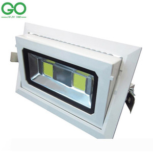 LED Downlights 50W COB Rectangular Recessed Ceiling Down Lights 130-140lm w Rotatable Adjustable Downlight Indoor Lighting