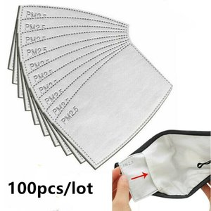 Anti Dust Droplets Replaceable Mask Filter Insert for Mask Paper Haze Mouth PM2.5 Filters Household Protective Products 100pcs lot