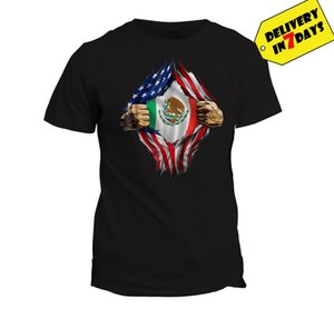 Mexican Blood Inside Me T Shirt Mexican American Flag Tee 2020 New Fashion Brand Clothing O-Neck Teenage T-Shirt Cool Tee