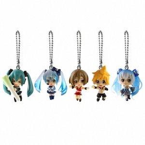 Gioielli Hatsune Miku Q Versione chiave del pendente di modo dell'anello di auto giapponese del fumetto chiave del sacchetto di plastica Figura Trendy unisex Zhefanku Jv97 #