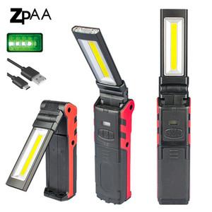 Upgrared Managetic rechargeable LED COB Light Work pour réparation de voiture USB Pliable Stepless gradation COB Lampes