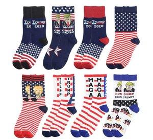 Trump Socken Präsident 2020 MAGA Trump Brief Stockings Gestreifte Sterne US-Flagge Sportsocken MAGA SockChristmas Geschenk BWF349
