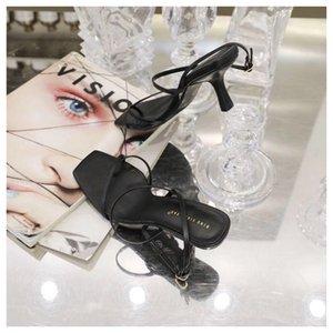 ABER лодыжки ремень каблуки женщин сандалии летние туфли Open Toe Коренастый Med пятки партии ботинок платья Narrow Band Sandal нового