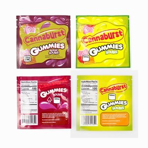 EDIbles Vuoto Cannaburst Gummies 500mg Sovras Mylar Bag Zipper Pouch Sentore Proof Imballaggio Gummies Edibles Borse da imballaggio