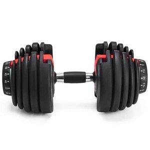 Регулируемое гантель 5-52.5lbs Фитнес Тренировки Гантели Веса Построить свой Мышцы Спорт на открытом воздухе Фитнес оборудование ZZA2230