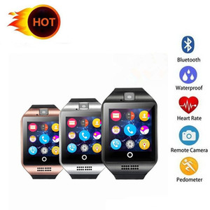 Q18 Smart Watch Sport Bluetooth Smartwatches For Cellphones Support SIM Card Camera Answer Call Set up Various Language Wristband With Box