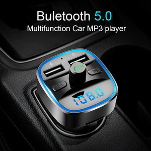 FM Transmitter, Bluetooth FM Transmitter Wireless Radio Adapter Car Kit with Dual USB Charging Car Charger MP3 Player Support TF Card & USB