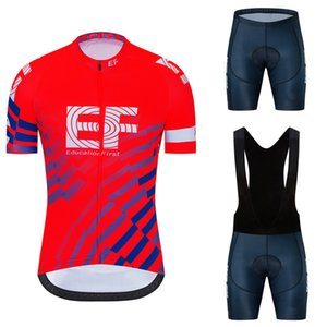 2020 Team EF cycling jersey 20D gel bike shorts suit MTB Ropa Ciclismo mens summer bicycling Maillot culotte clothing