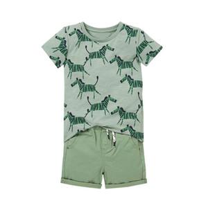Baby Boy Designer Roupas Miúdos Conjuntos 100% Algodão Summer Boy Set Manga Curta T Shirt com Cloak + Denim Curto Crianças Conjuntos de Roupas