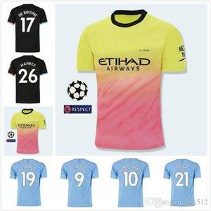 19 20 soccer jersey city 2019 2020 G. JESUS MAHREZ DE BRUYNE KUN AGUERO football shirt MENDY MAN uniforms manchester men + kids kit