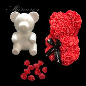 Regali di 1Pcs Modeling Polistirene polistirolo schiuma bianca della muffa dell'orso Teddy Per San Valentino di compleanno della decorazione della festa nuziale di
