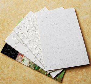 Stok Yeni A4 Sublimasyon Boş Puzzle 300pcs DIY Craft Isı Basın Transferi El Puzzle Beyaz Kağıt Ofis Okul DHL Ücretsiz Kargo