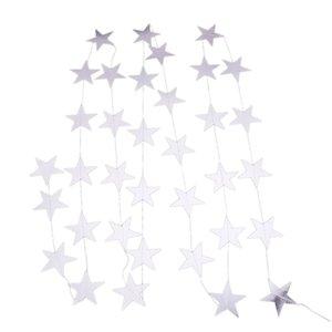 4M Weihnachten fünfzackigen Stern Pull-Flagge Nette einzigartige Pull-Flagge für Geburtstag Festliche Party Supplies Dekorative Supplies (Silber)