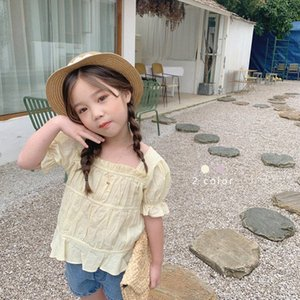 2020 Hot Selling Baby Girls Shirt Summer Kids Girls Blouse Children Clothing 2 7 Years KcFo#