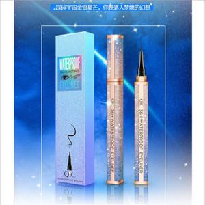 Водонепроницаемый QIC Звездное небо Eyeliner Pencil 24 часов Продолжительно Liquid Black Eye Liner Pen Non-цветущий макияж Инструменты Factroy Прямая продажа