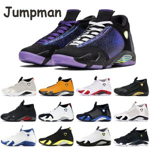 Bumblebee 14s Jumpman Chaussures de basket-Doernbecher Noir Multi Color de Thunder Royal Blue Toe Desert Sand Candy Cane Supwhite Hommes Chaussures