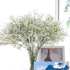 Farbenfrohes Artificial Gypsophila weiche Silikon-Real Touch Blumen Artificial Gypsophila für nach Hause Wedding Partei Festliche Dekoration HHAA429