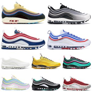 Nike Air Max 97 97s Shoes Iridiscentes Zapatillas de running para hombre All-Star Jersey Have a Day Uva Metallic Pack Triple Blanco Negro Mujer Deportes Zapatillas 36-45