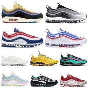 Nike Air Max 97 97s Shoes Iridescent Herren Laufschuhe All-Star-Jersey haben einen Tag Grape Metallic Pack Triple Weiß Schwarz Damen Athletic Sports Sneakers 36-45