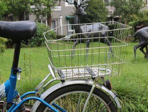 mNqXI shelves student stainless steel baskets bag Bicycle bicycle rear enlarged baskets mountain bike back seat rear basket vegetable baske