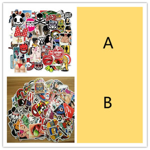 100PCS Diy Sexy Adults Cartoon Vinyl Stickers Skateboard Luggage Car Stickers Decals