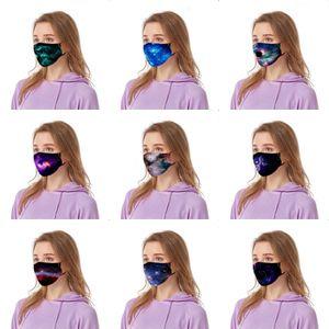5pcs impressão preto bonito Famask Cotton Outdoor Famask Set Fa Maskswasable e reutilizável Fa-Mask-Wasable Droppsiping # 980