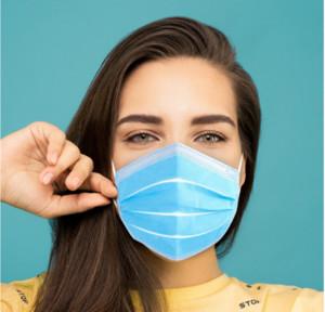 DHL Livraison gratuite en gros spot Masque jetable 50 Pack anti-poussière anti-buée avec crochet d'oreille épais ménages à trois couches de masque 24 heures 000