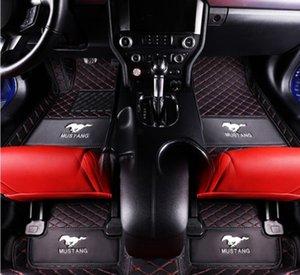 Adequado para Ford Mustang 2015-2020 luxo almofada personalizada carro pé fácil de limpar impermeável piso matwaterproof Mats-5 cadeira