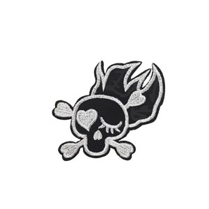 10 PCS Funny Embroidered Skull Patch Badge for Punk Boys Clothing Ironing Applique Men Sweater Stripe Sewing Embroidered Patches for Trouser