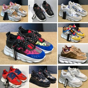 New Men's Casual Fashion Raising Chain Sneakers Comfort Shoes Women's Platform Creeper Women's Casual Flats Tennis xshfbcl