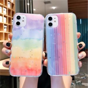 Iphone 12 11 Maxpro 6 7 8 Plus X XR XS MAX Renkli Aurora Borealis Slim Fit Koruyucu Telefon Kılıf Kapak